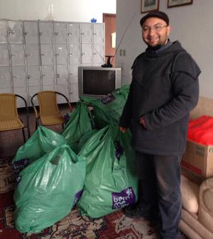 Parte das doações recebidas na sede da Amatra foram repassadas à Casa dos Pobres São João Batista, que atende pessoas em tratamento médico na capital