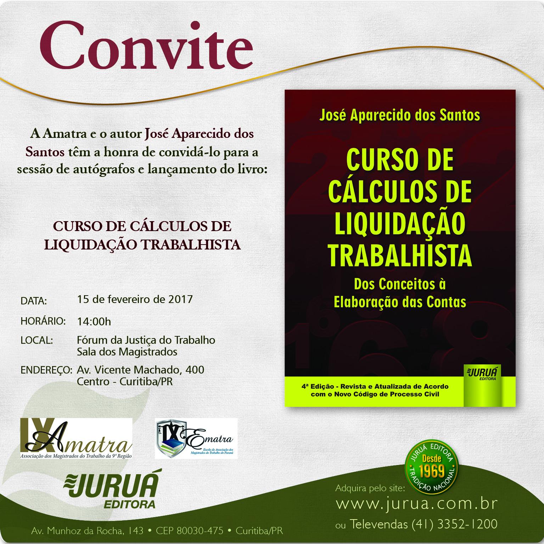 CONVITE - CURSO DE CALCULOS DE LIQUIDAÇÃO
